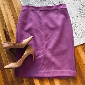 J crew wool pencil skirt lilac sz 10
